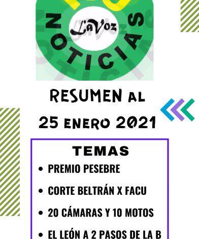 RESUMEN DE NOTICIAS AL 25 ene 2021